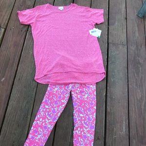 Lularoe girl's 2pc Set! Gracie-Sz 14 top/0S pants
